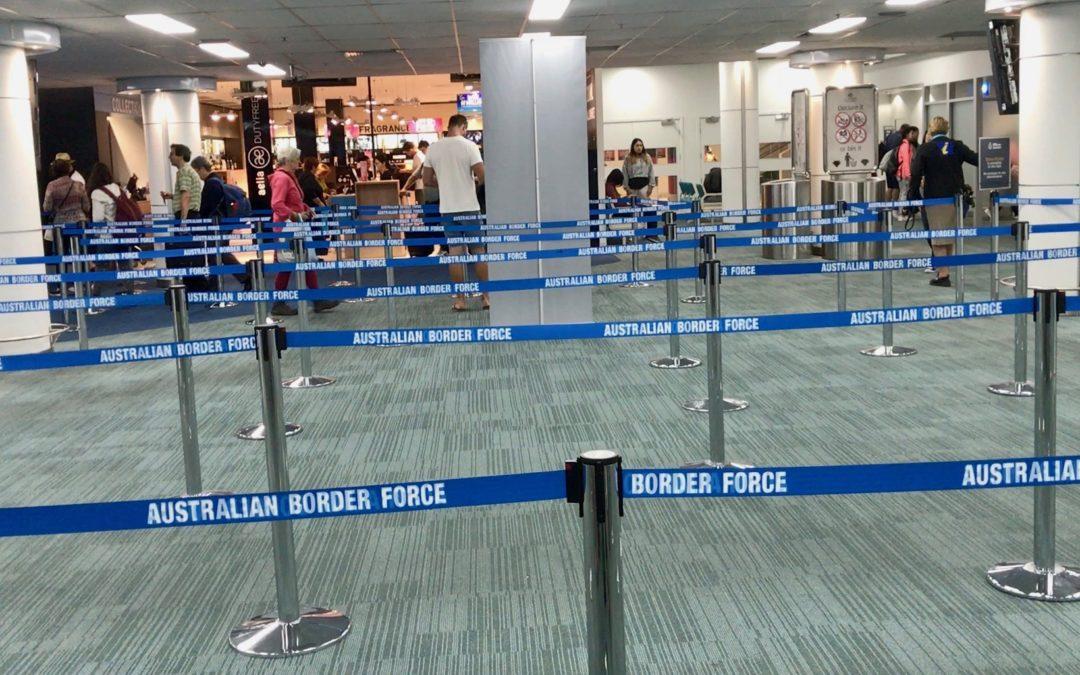 celnice v Australii příletový formulář do Austrálie